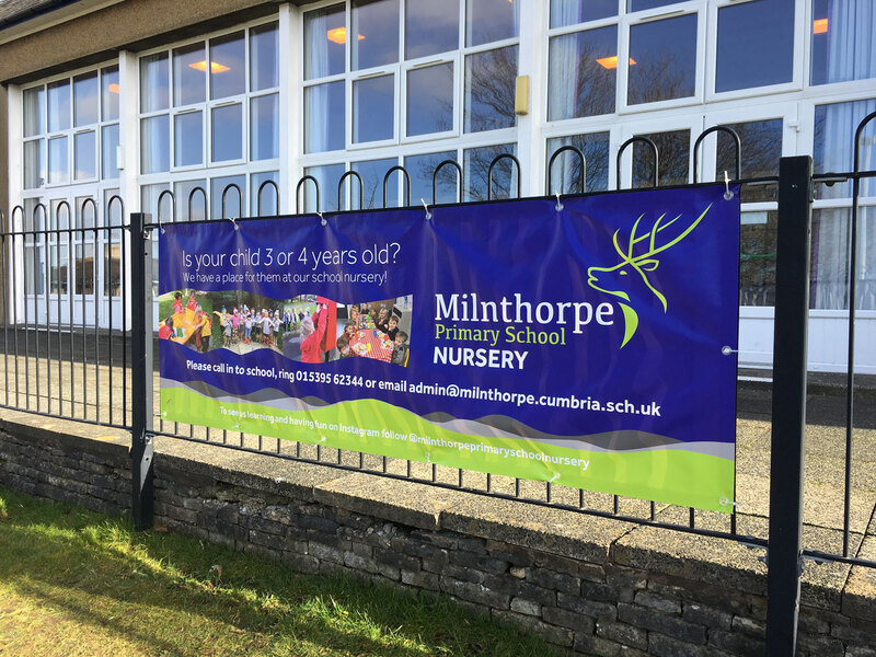 Milnthorpe Primary School PVC banner