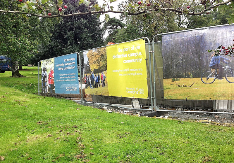 University or Cumbria windmesh banners